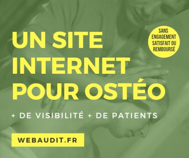 Site web pour ostéopathe avec référencement SEO